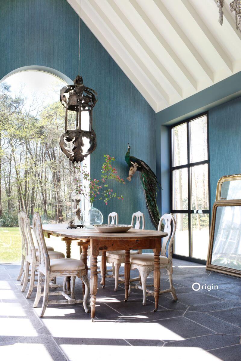 Textured wallpaper green