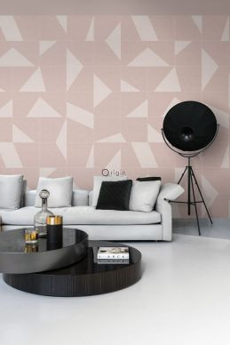 wall mural graphic motif antique pink