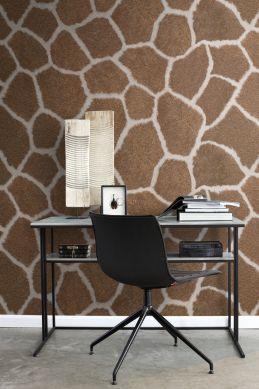 wall mural giraffe skin imitation brown