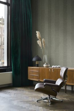 wallpaper crocodile skin gray-grained olive green