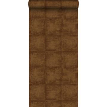 wallpaper plain shiny copper brown