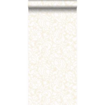 wallpaper lace print white