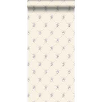 wallpaper button-tufted white