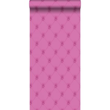 wallpaper button-tufted pink