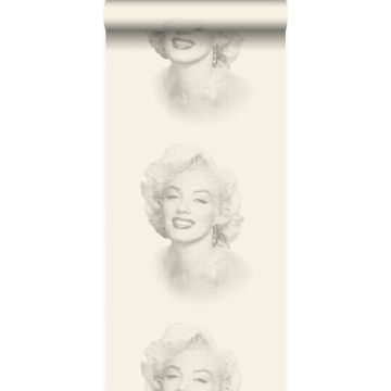 wallpaper Marilyn Monroe white and gray
