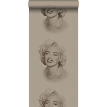 wallpaper Marilyn Monroe shiny bronze