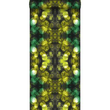 wallpaper kaleidoscope yellow and green