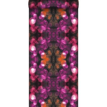 wallpaper kaleidoscope pink and orange