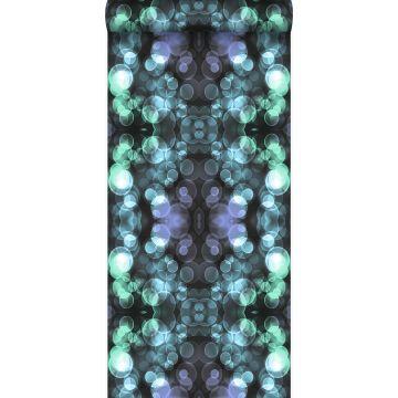 wallpaper kaleidoscope light azure blue and lilac purple