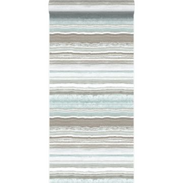 wallpaper layered marble stone beige and light blue