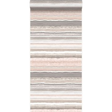 wallpaper layered marble stone peach pink and beige