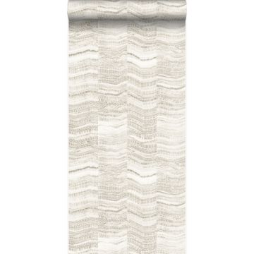 wallpaper zig zag stripes of layered marble beige
