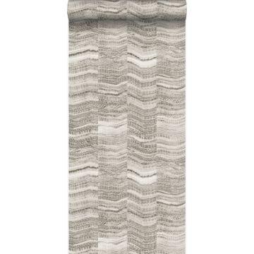 wallpaper zig zag stripes of layered marble light gray