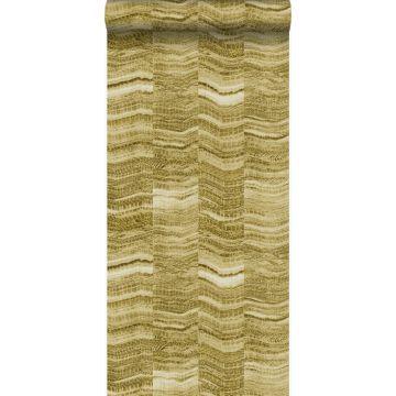 wallpaper zig zag stripes of layered marble mustard