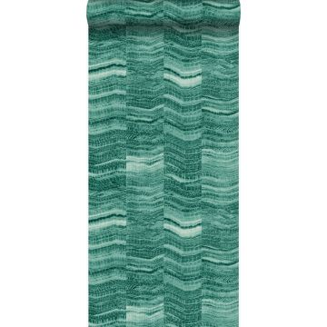 wallpaper zig zag stripes of layered marble emerald green