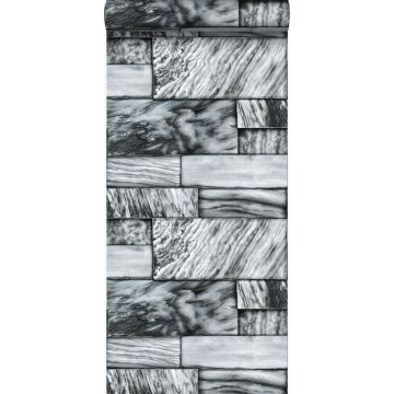 wallpaper marble stones black and white