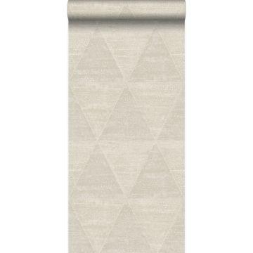 wallpaper weathered metal triangles beige