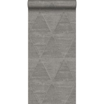 wallpaper weathered metal triangles industrial gray