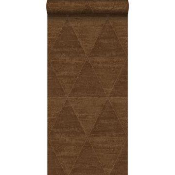 wallpaper weathered metal triangles rust brown