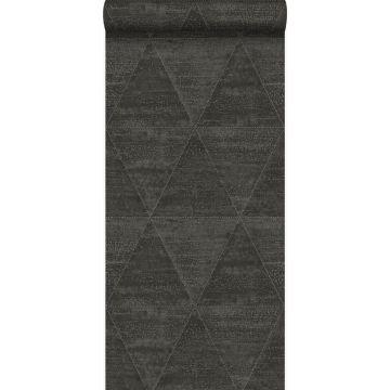 wallpaper weathered metal triangles black