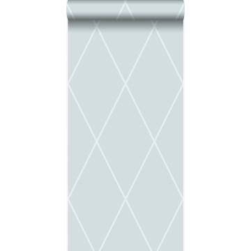 wallpaper rhombus motif ice blue