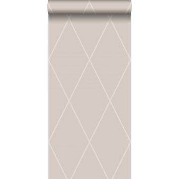 wallpaper rhombus motif warm silver