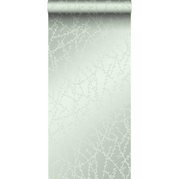 wallpaper blossom mint green