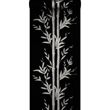 wallpaper bamboo matt black and gray