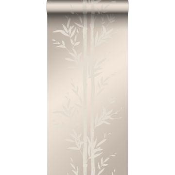 wallpaper bamboo warm silver