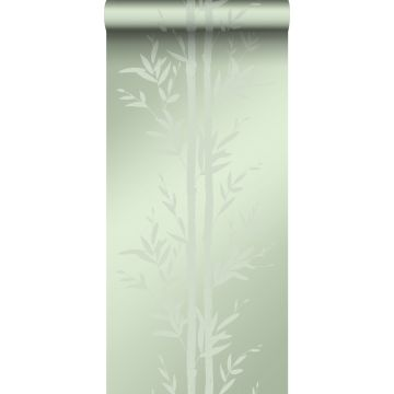 wallpaper bamboo olive green