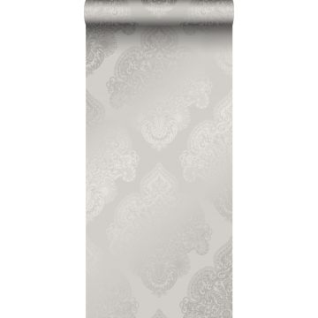 wallpaper ornament taupe