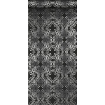 wallpaper graphic form black and silver