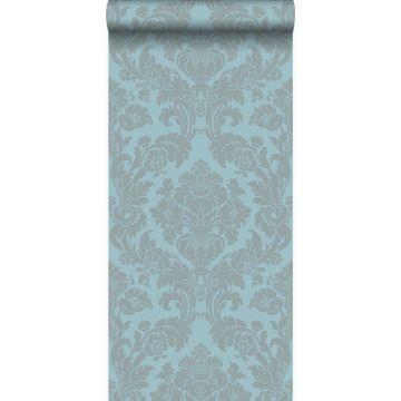 wallpaper ornament ice blue