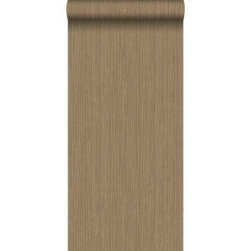wallpaper fine stripes shiny copper brown