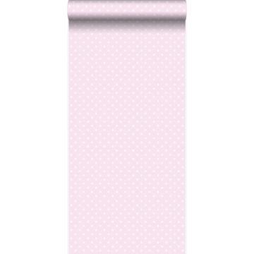 wallpaper dots light pink