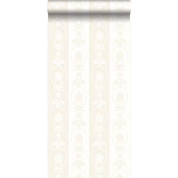 wallpaper ornament silver and white