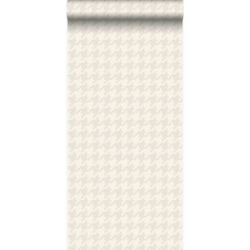 wallpaper houndstooth motif white and silver