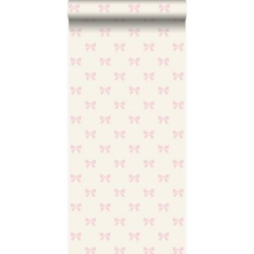 wallpaper little bows white and light pink