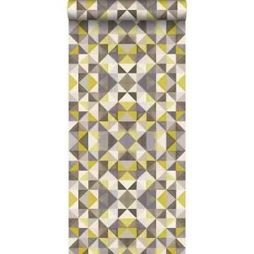 wallpaper cubism mustard