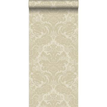 wallpaper ornament warm beige