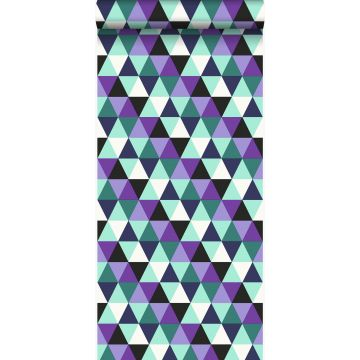wallpaper graphic triangles purple and light azure blue