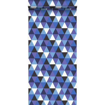 wallpaper graphic triangles blue