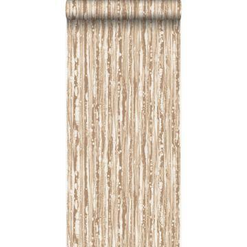 wallpaper stripes shiny bronze