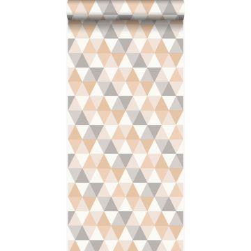 wallpaper graphic triangles beige