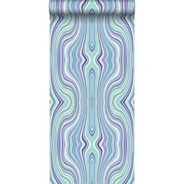 wallpaper graphic lines turquoise and purple