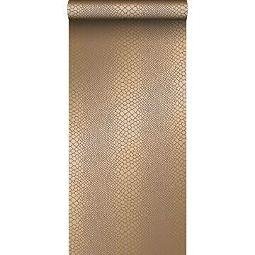 wallpaper snake skin shiny copper brown