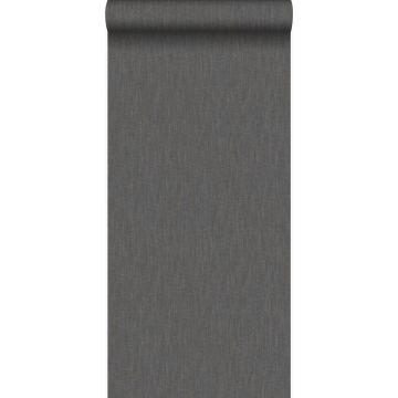 wallpaper linen dark brown
