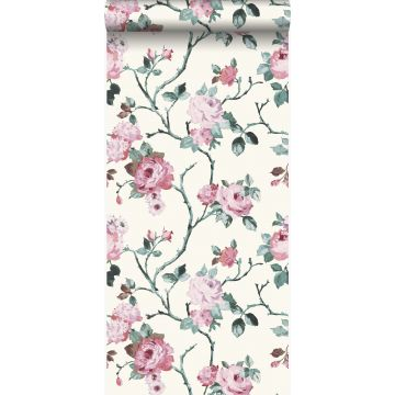 wallpaper flowers white and light pink