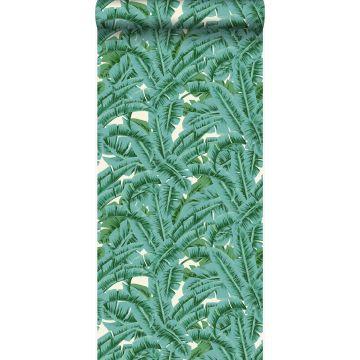 wallpaper palm leafs green