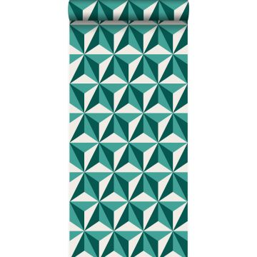 wallpaper graphic 3D emerald green